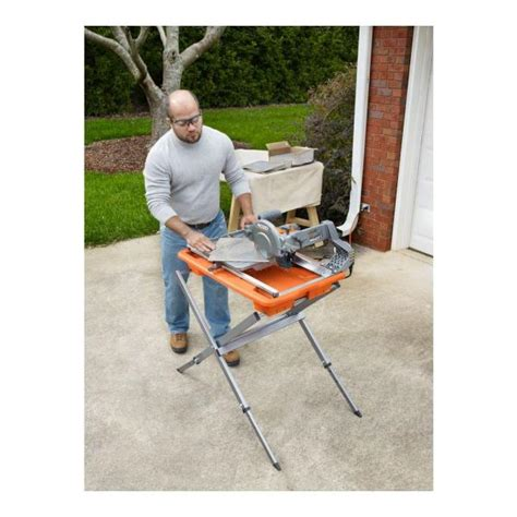 ridgid r4030s tile saw with stand 7 in vip outlet