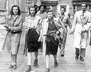 French Forces - 3 female members of the French resistance