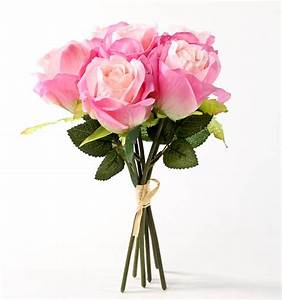 Pink Artificial Rose Bundle - Bushes and Bouquets - Floral ...