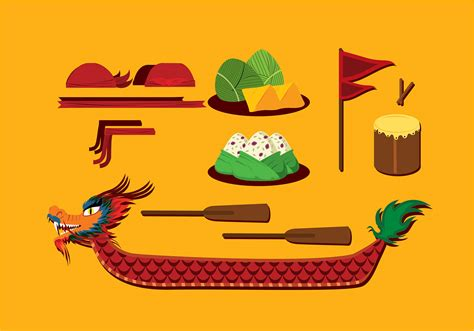 Dragon Boat Festival Vector by Dragon Boat Festival Item Free Vector Download Free
