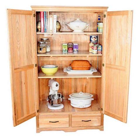 Oak Kitchen Pantry Storage Cabinet  Home Furniture Design
