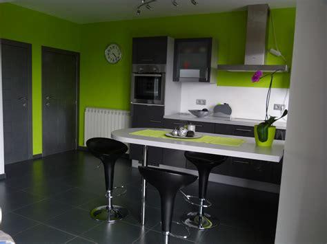 decoration cuisine verte et grise
