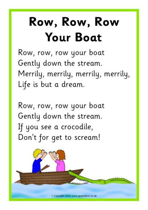 Row Row Row Your Boat Lyrics Download by Row Row Row Your Boat Song Sheet Sb10945 Sparklebox