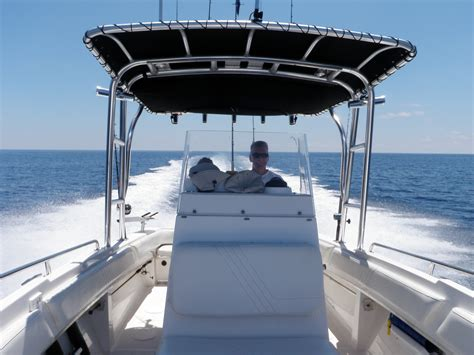 Tee Tops For Center Console Boats by Radar Arches On Small Center Console Boats The Hull