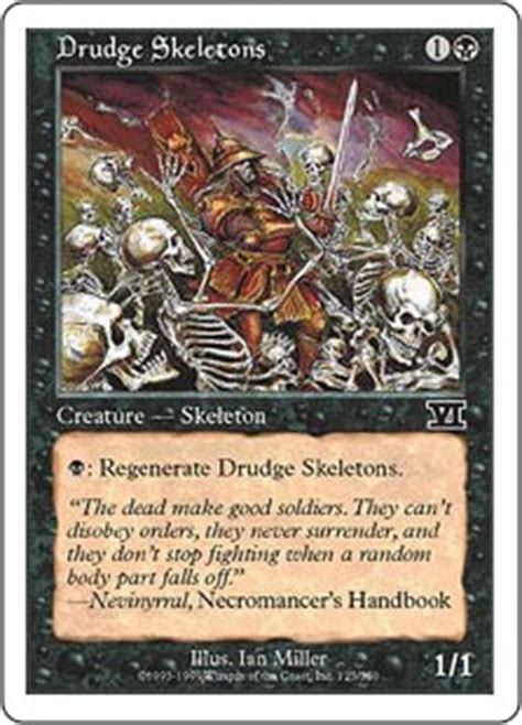 drudge skeletons the magic the gathering wiki magic the gathering cards decks and more