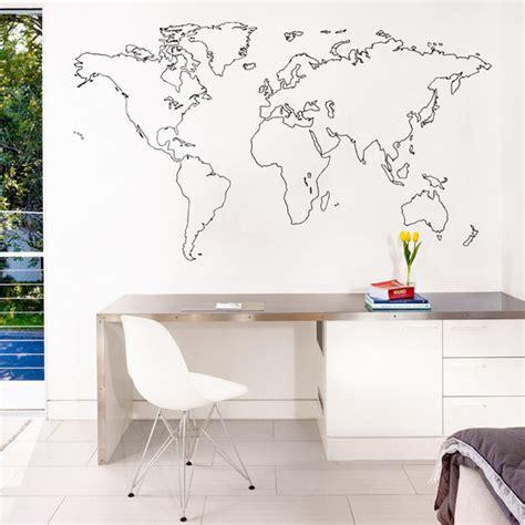 sticker mural carte du monde decoration des murs des bureaux kollori