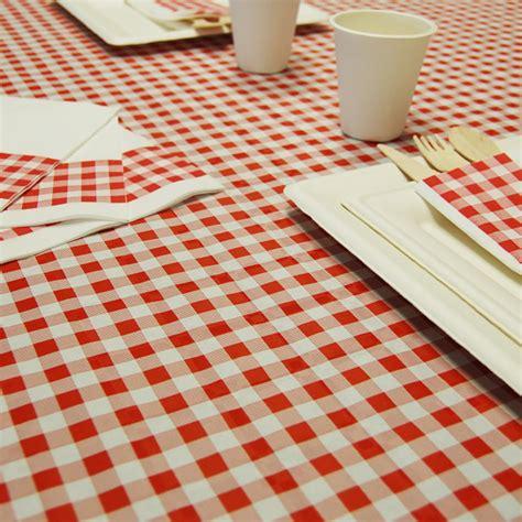 nappe papier carreaux et blanc sedgu
