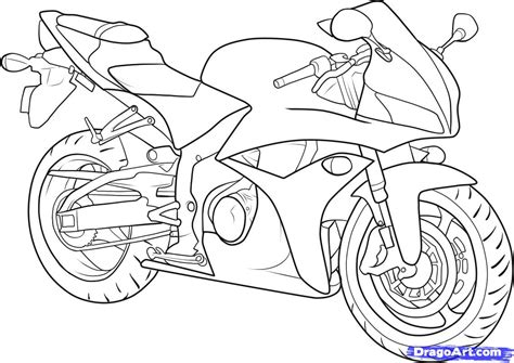 How To Draw A Motorbike, Step By Step, Motorcycles