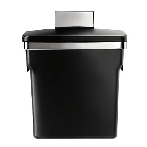 simplehuman plastic in cabinet trash can 2 64 gallons