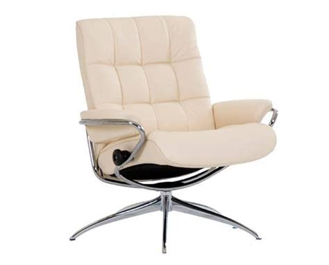 ekornes stressless low back leather recliner and ottoman chair lounger ekornes