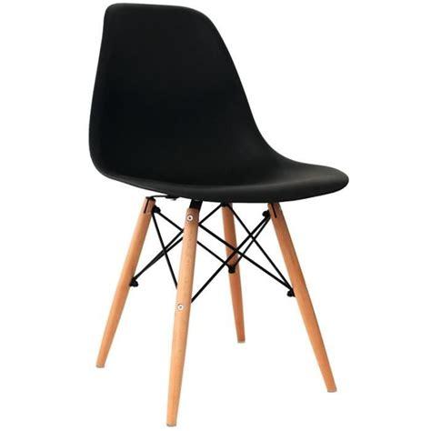 lot de 4 chaises design noir achat vente chaise salle a manger pas cher couleur et