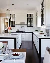 black and white kitchen Black and White KItchen Design - Contemporary - kitchen ...