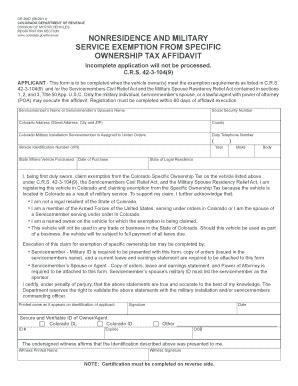colorado dmv non resident form 2011 2018 form co dr 2667 fill online printable fillable