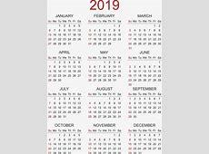 Calendario 2019 6 2019 2018 Calendar Printable with