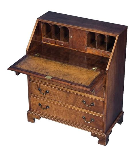 antique desk in mahogany with brown