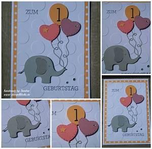 Basteln Mit Kindern 5 Geburtstag : karte zum 1 geburtstag stempeln stanzen und basteln mit stampin 39 up ~ Whattoseeinmadrid.com Haus und Dekorationen