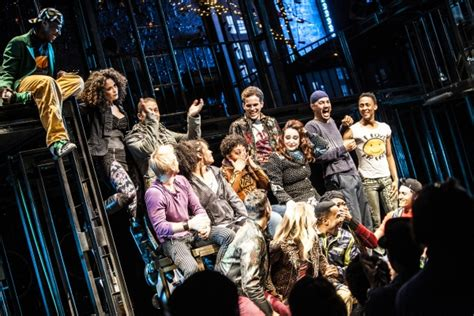 Curtain Call 1996 by Photo Coverage Inside Closing Of Rent At New World