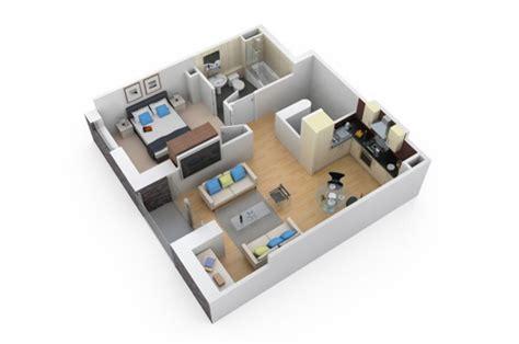 3d floor plan image 2 for the 1 bedroom studio floor plan 3d floor plans designer 3d architectural floor plans