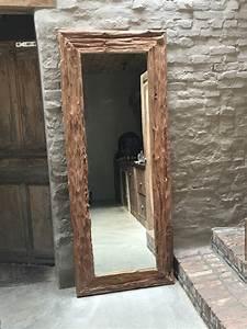 Spiegel 200 X 100 : zeer grove teakhouten spiegel lijst 200 x 80 cm teakhout landelijk passpiegel spiegels 39 t ~ Markanthonyermac.com Haus und Dekorationen