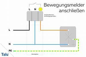 Lampe Mit Bewegungsmelder Und Schalter : bewegungsmelder anschlie en und einstellen anleitung ~ Markanthonyermac.com Haus und Dekorationen