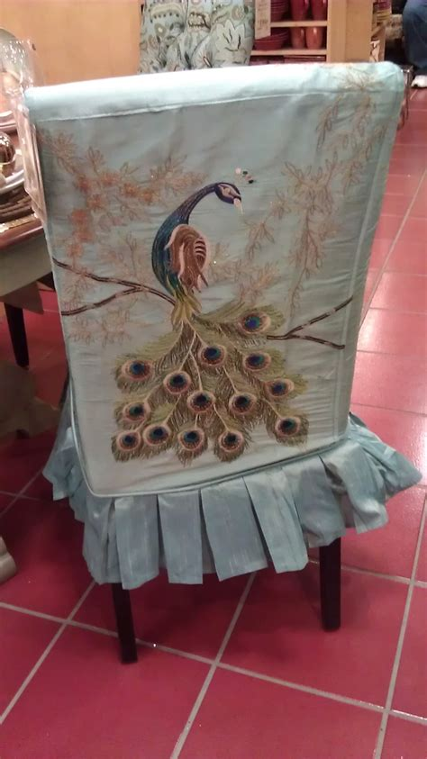 pier one peacock dining room chair cover for of peacocks pin