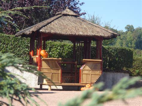 tonnelle bambou meubles jardin bambou