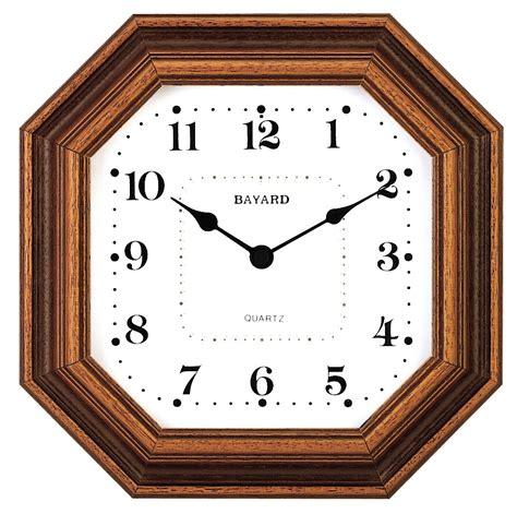 horloge murale entourage bois octogonale bayard horloge murale 1001 pendules