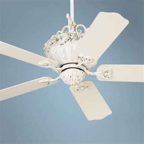 52 quot casa chic antique white ceiling fan