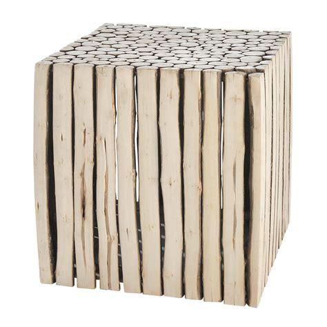 bout de canap 233 en bois l 38 cm rivage maisons du monde
