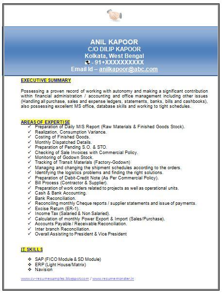 Mba Experience Resume Format  Resume Ideas