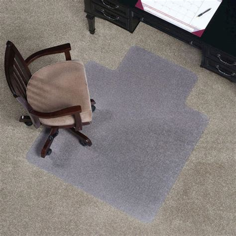 es robbins 174 everlife 45 quot x 53 quot clear lip chair mat for