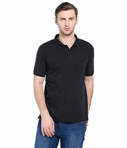 Cnmn Black Polo Neck Cotton T Shirt - Buy Cnmn Black Polo ...