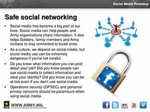 Social Media Roundup - OPSEC and Safe Social Networking