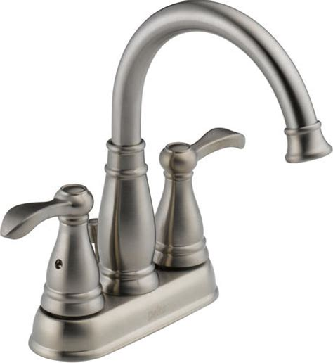 delta 174 porter 174 4 in 2 handle high arc bathroom faucet at