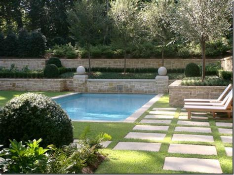 Garden Pool : Home And Garden Spas, Rectangle Swimming Pool Landscaping