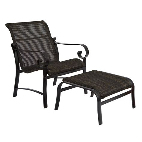 Patio Chair With Ottoman by Woodard Belden Outdoor Woven Weave Lounge Chair With