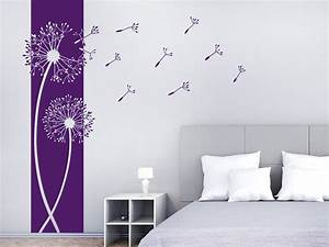 Wandgestaltung Schlafzimmer Lila : wandtattoo banner pusteblumen wandbanner wandtattoo de ~ Markanthonyermac.com Haus und Dekorationen
