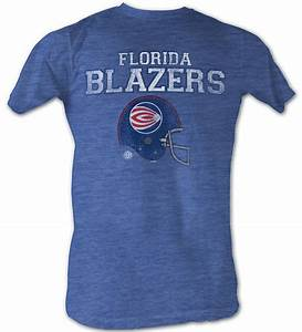 World Football League T-Shirt Florida Blazers Heather Blue ...