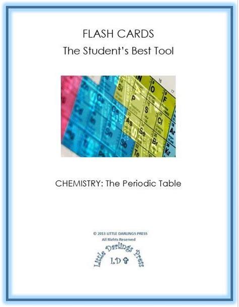 Homeschool Freebies Chemistry Flash Cards  Periodic Table Elements  Free Homeschool Deals