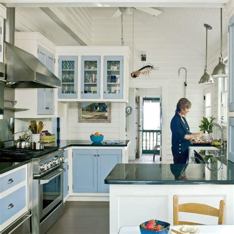 Subtle Beachthemed Kitchen  20 Beautiful Beach Cottages