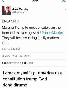 Tweet Jack Murphy Real Jack BREAKING Melania Trump to Meet ...