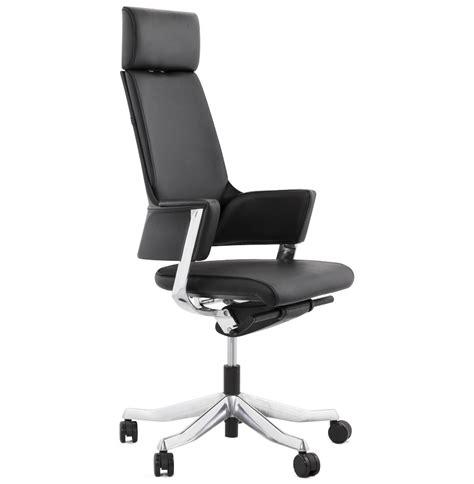 fauteuil de bureau ergonomique vip design en cuir noir