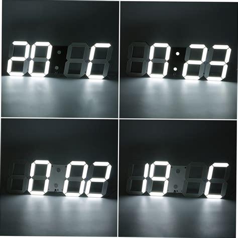 horloge murale digitale led