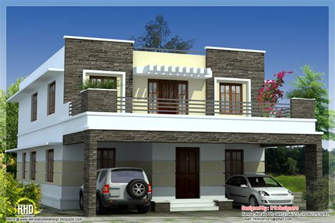 slab home designs design ideas new my plus garden rcc 3 bedroom modern flat roof house kerala home design and