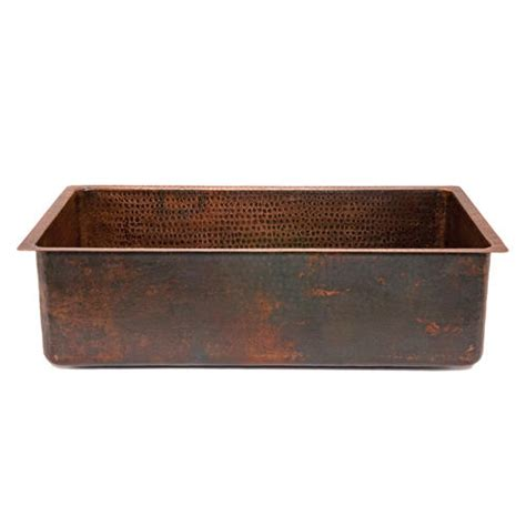 33 quot hammered copper kitchen single basin sink at menards 174