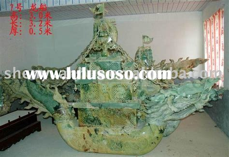 Jade Dragon Boat Carving by Dragon Jade Dragon Jade Manufacturers In Lulusoso