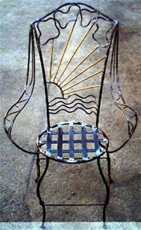 tables chairs armchairs wood and wrought iron