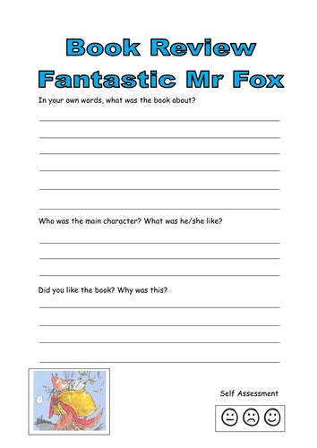 Fantastic Mr Fox Book Review By Kayld  Teaching Resources Tes