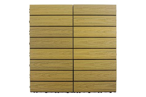 kontiki interlocking deck tiles composite quickdeck series oak naturale 12 quot x12 quot