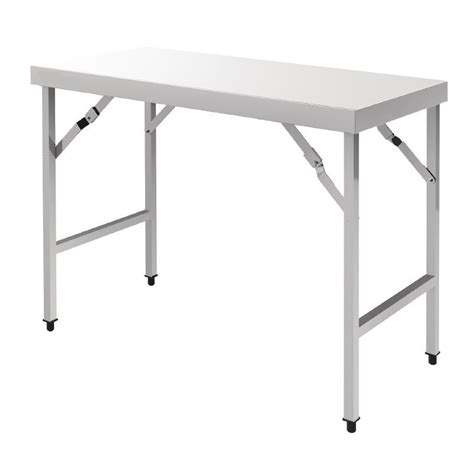 table pliante en inox longueur 1m20 ou 1m80